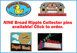 Ad for Broad Ripple collector pins