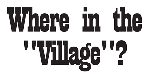 Where in the Village header